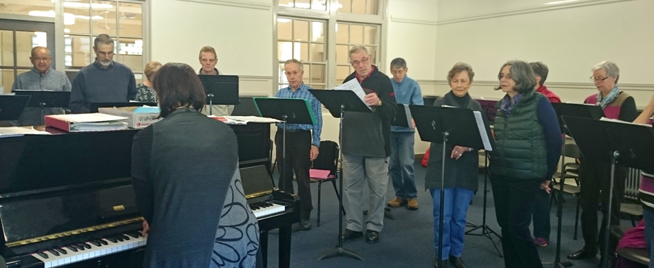 The Vivace daytime choir is part of Music for Canberra's program and meets in Braddon.