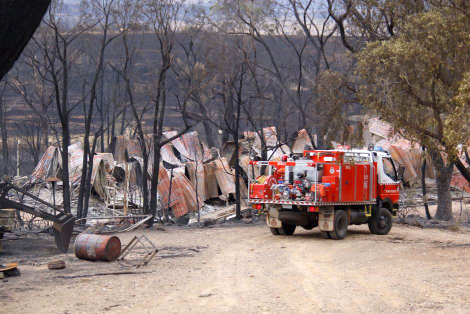 Many residents returned to find burnt-out shells of what was once their home.