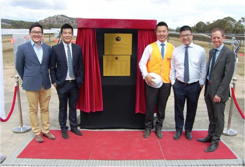 Qiao Han, Milton Zhou, Kevin Chen and Morris Zhou from Maoneng Australia with ACT Minister Shane Rattenbury MLA