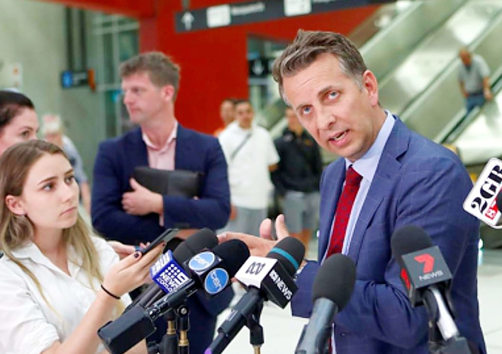 NSW transport minister Andrew Constance