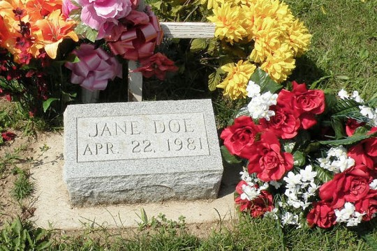 genome DNA jane doe gravestone