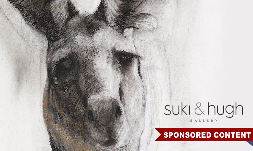 Old Man by Sally Simpson, detail. Charcoal and pastel, 57 x 42cm.