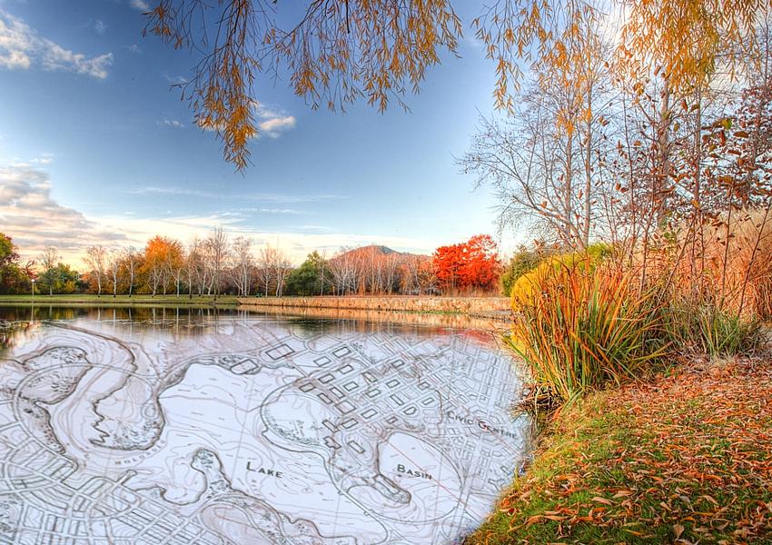 Lake Burley Griffith scene and plan