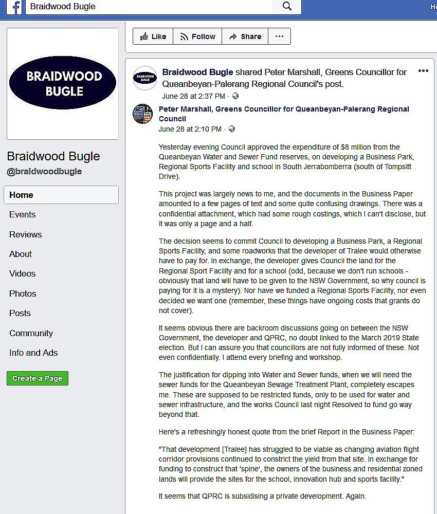 Braidwood Bugle screenshot