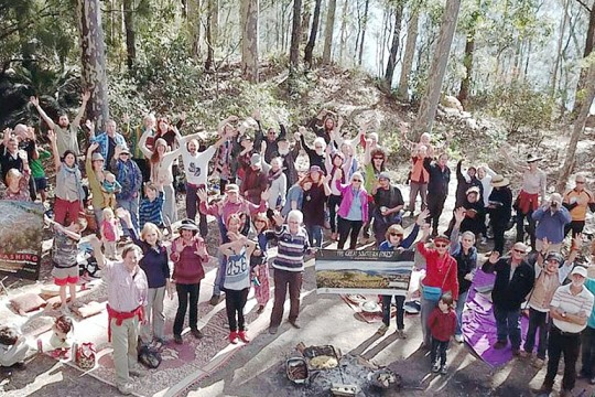 Corunna Forest protest Narooma Times