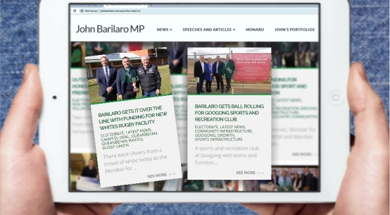 barilaro website mockup