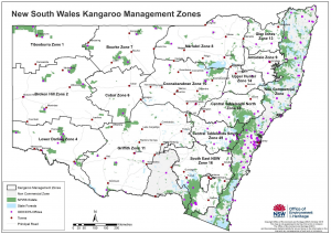 NSW kangaroo management zones map