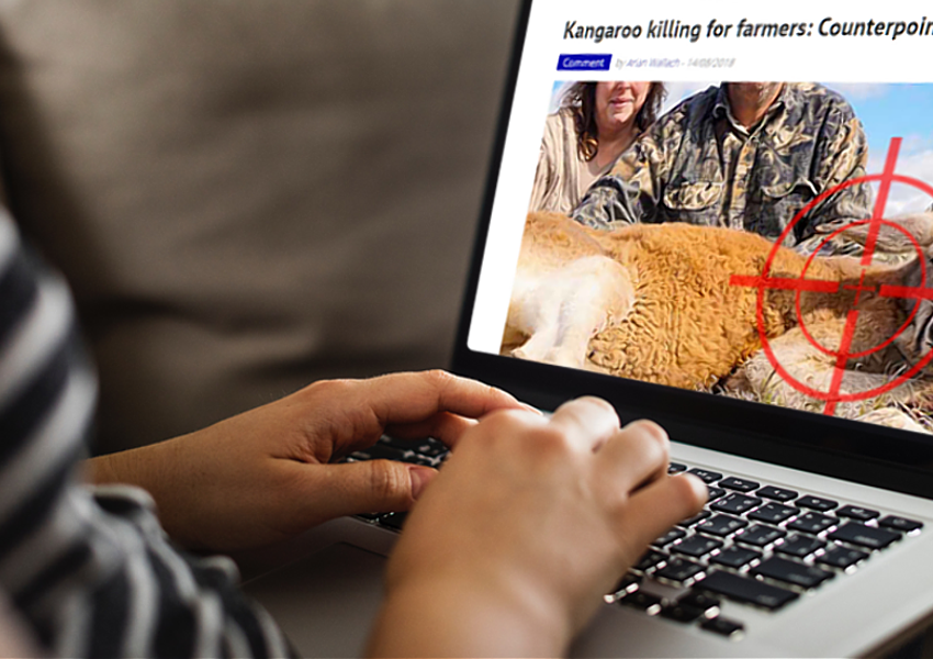 comment kangaroo killing counterpoint