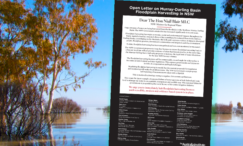 open letter Murray-Darling floodplains