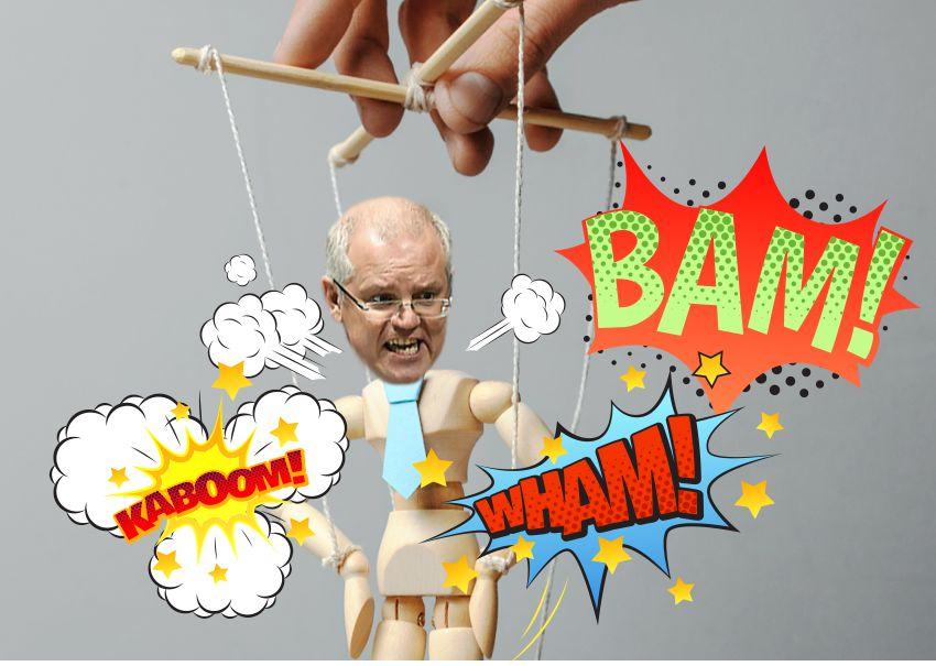 scott-morrison-puppet-tantrum