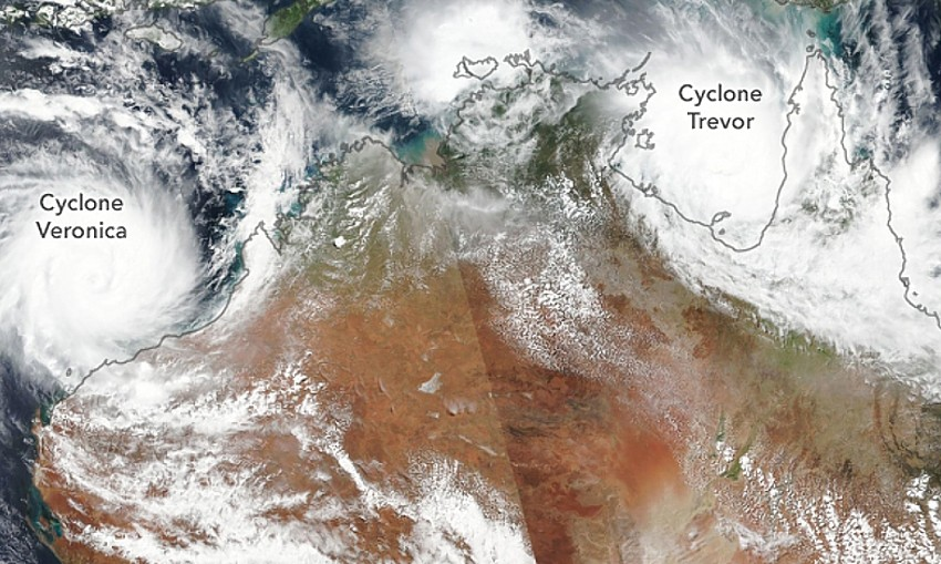 australiacyclones_Veronica_Trevor_viirs_22Mar2019_NASA_Earth_Observatory_cropped