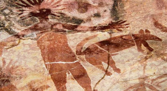 dingo-rock-painting-Laura-region-Qld-PaulTacon
